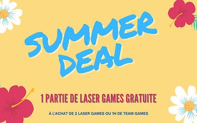 Vous cherchez une activité ? Summer Deal 🌅 Partie de Laser Games Offerte*
